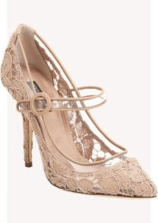 Dolce & Gabbana Transparent Lace Mary Jane Pumps