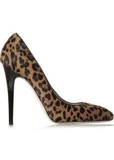 Jimmy Choo Victoria leopard-print calf hair pumps