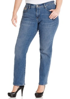 Levi's® Plus Size 512 Perfectly Shaping Straight-Leg Jeans, Western Light Wash