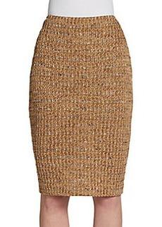 St. John Couture Tweed Pencil Skirt