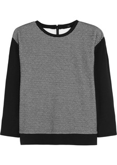Tibi Honeycomb cotton-blend jersey sweater