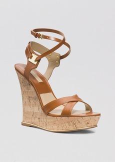 Michael Kors Open Toe Platform Wedge Sandals - Shana