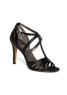 Satin High-Heeled Sandals
