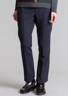 Marni Straight-Leg Tuxedo Pants, Blue/Black