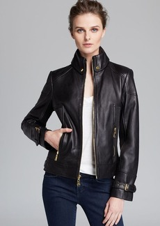 Via Spiga Jacket - Ruched Side Leather