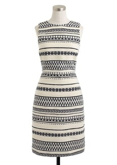 Collection sculpted sheath in geometric stripe