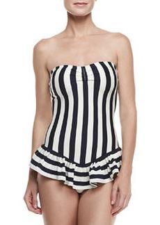 Juicy Couture Boho Stripe Bandeau-Cup Swimdress