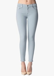 """The Slim Illusion Ankle Skinny in Slate Blue Sandwashed Twill (28"""" Inseam)"""