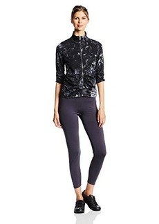 Calvin Klein Performance Women's Printed Front-Zip Ruched Jacket