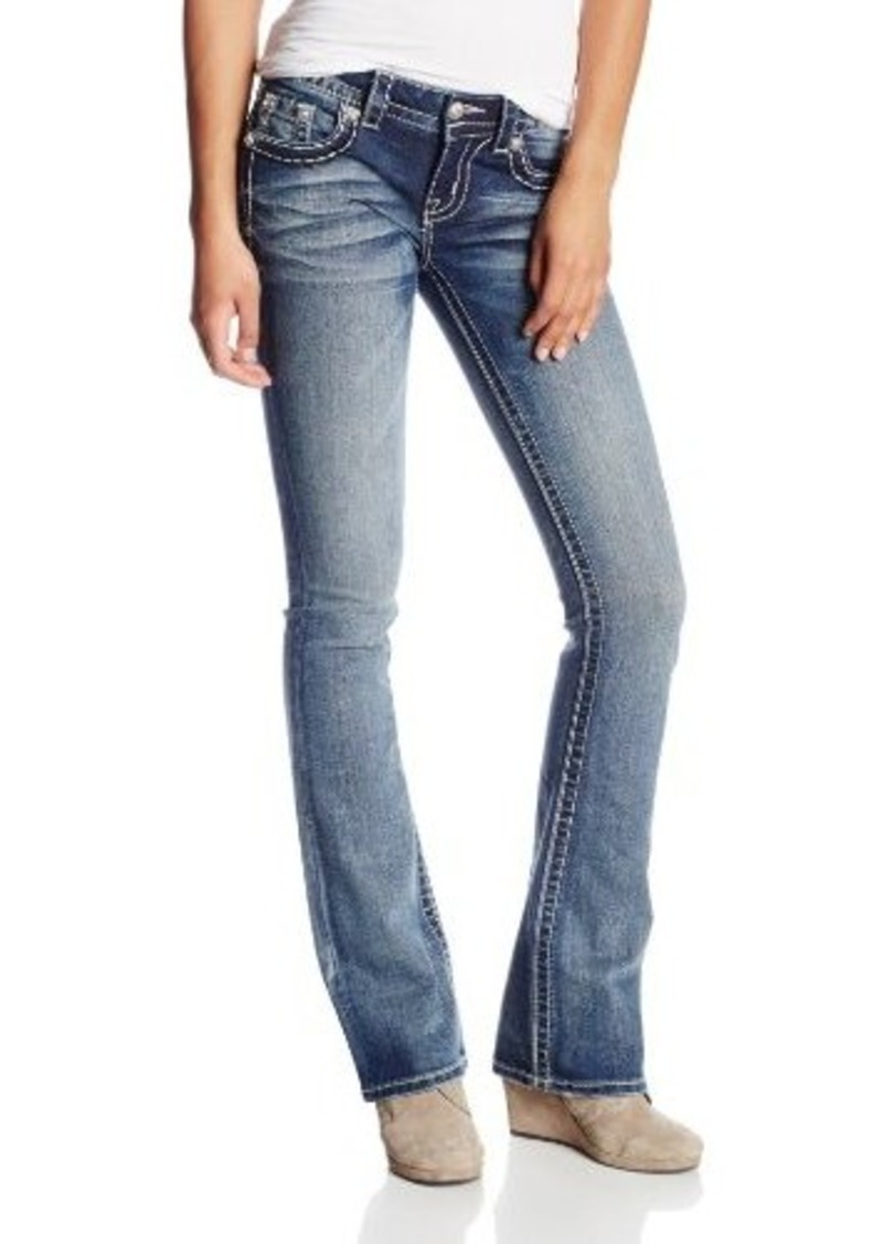 Miss me embroidered floral bootcut jean with