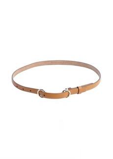 Gucci brown leather horsebit buckle skinny belt
