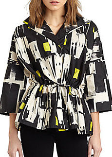 Lafayette 148 New York Justina Tribal-Print Jacket