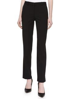 Michael Kors Tapered Gabardine Suiting Pants, Black