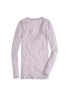 Vintage cotton long-sleeve V-neck tee