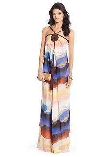 Teddy Tassle Silk Chiffon Gown