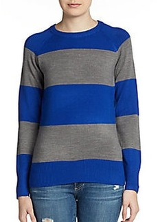 French Connection Wide-Stripe Crewneck Sweater
