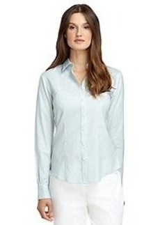 Fitted Non-Iron Frame Stripe Dress Shirt