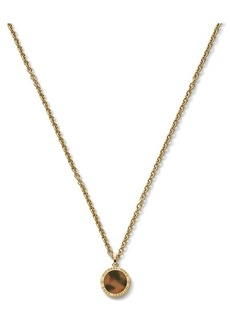 Michael Kors Logo Etched Small Disc Necklace, 16""
