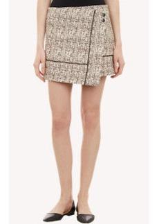 Proenza Schouler Tweed Low-Slung Wrap Mini Skirt