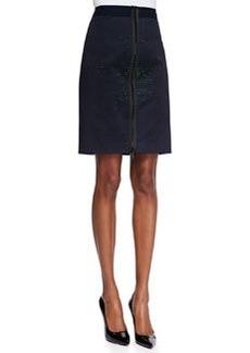 Elie Tahari Molly Iridescent-Print Stretch-Twill Skirt