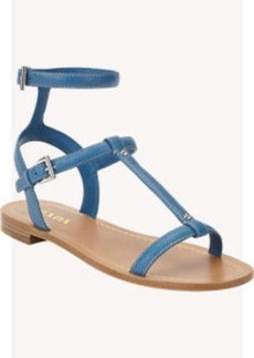 Prada T-strap Ankle-Strap Sandals