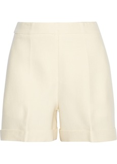 Oscar de la Renta Wool and silk-blend twill shorts