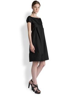 Jil Sander Silk Report Tuck Dress