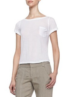 Rolled-Sleeve Front-Pocket Tee   Rolled-Sleeve Front-Pocket Tee