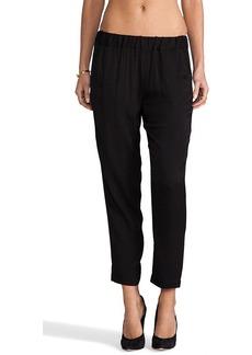 Ella Moss Kori Plaid Pants in Black