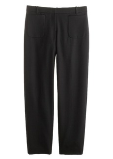Collection patch pocket pant in wool gabardine