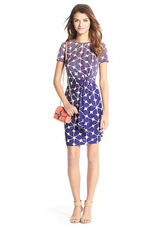 Zoe Short Sleeve Silk Jersey Dress