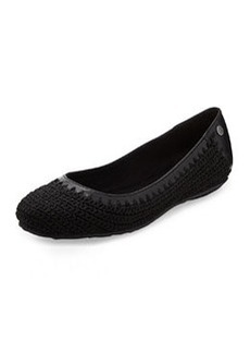 The Sak Frannie Slip-On Crochet Flat, Black Sparkle