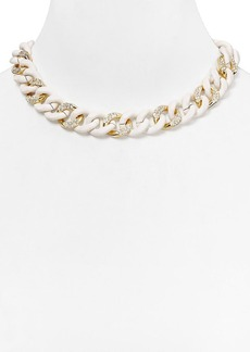 ABS by Allen Schwartz Pave Wrapped Chain Necklace, 16""