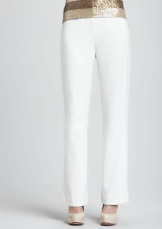 Joan Vass Ponte Boot-Cut Pants