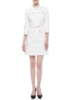 Michael Kors Belted Utility Twill Dress