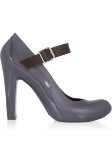 Marni Leather-trimmed rubber pumps