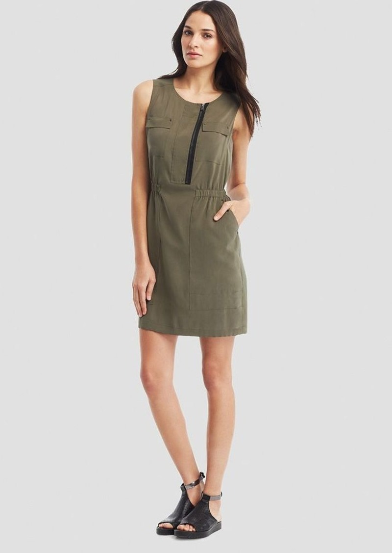 Kenneth Cole New York Laury Military Zip Dress
