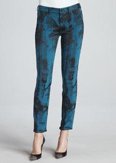Elie Tahari Azella Printed Skinny Zip-Cuff Jeans