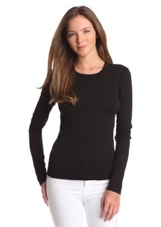 Three Dots Women's Long Sleeve Crewneck Tee