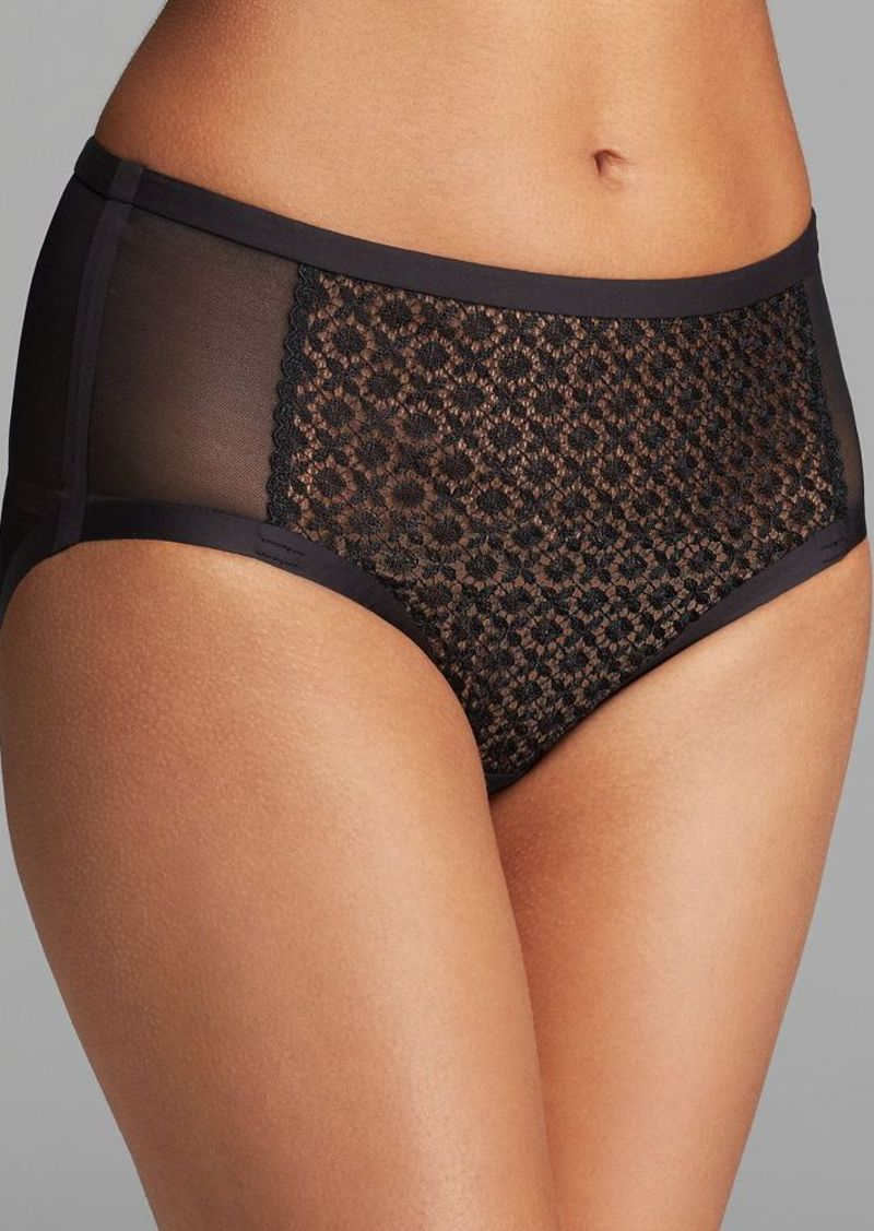 Calvin Klein Underwear Hipster - Black Shadow High Waisted with Detachable Garters #F3795