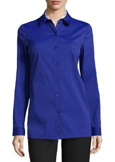 Lafayette 148 New York Cordelia Tailored Stretch Blouse, Cosmic