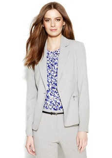 Calvin Klein Single-Button Crosshatch Blazer