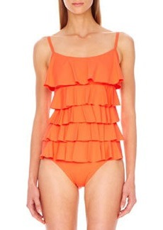 MICHAEL Michael Kors Scoop-Neck Ruffled Maillot