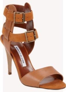 Manolo Blahnik Dubena Double Ankle-Strap Sandals