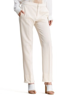 Chloe Straight-Leg Trousers, Sail White