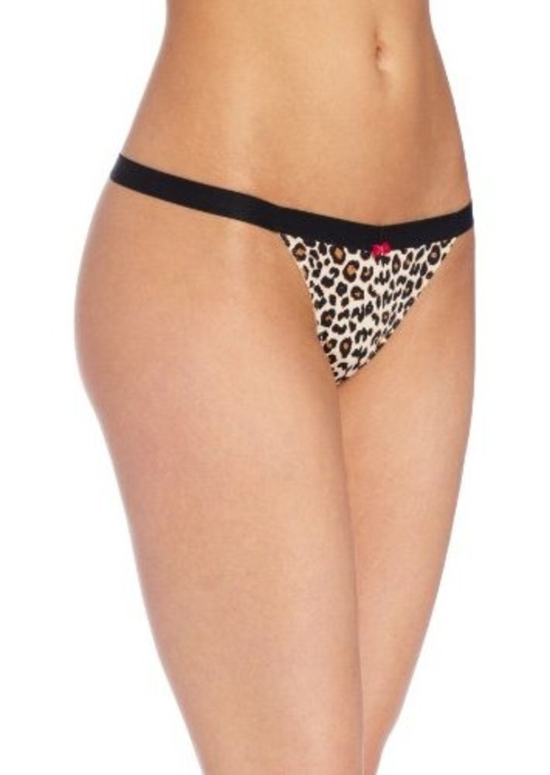 Betsey Johnson Women's Microfiber Everyday Thong Panty