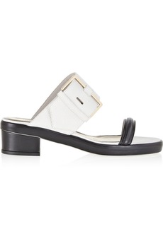 Jason Wu Two-tone textured-leather sandals