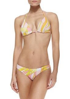 Emilio Pucci Fenice-Print String Bikini