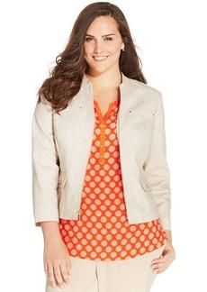 Jones New York Collection Plus Size Zip-Front Blazer