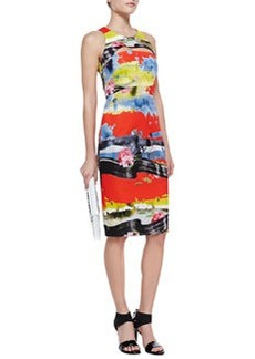 Tropical Cutout Full-Zip Dress   Tropical Cutout Full-Zip Dress